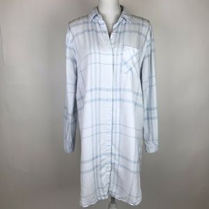 Rails Sawyer Dress Blue Light Light Vintage Plaid